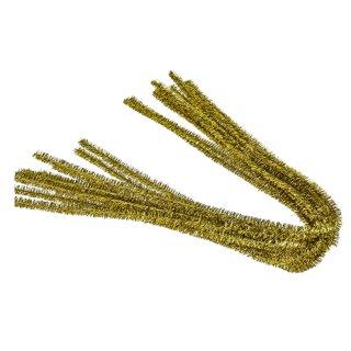 Pfeifenputzer, gold, , ø 8 mm / 50 cm, 10 Stk.
