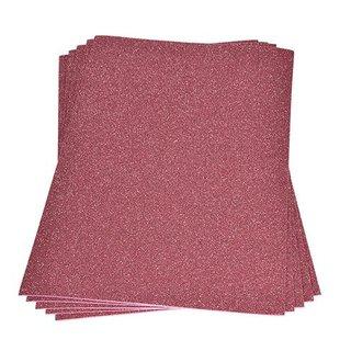 Moosgummiplatte Glitter, rosa, , 200 x 300 x 2 mm,