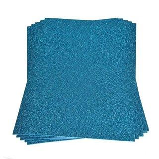 Moosgummiplatte Glitter, hellblau, , 200 x 300 x 2 mm,