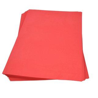 Moosgummiplatte, rot, , 300 x 450 x 2 mm,
