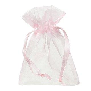 Beutel Organza, rosa, , 7,5 x 10 cm,