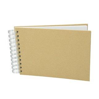 Sammelalbum für Scrapbooking, braun, Spiralbindung, A 5 / 21 x 15 cm, 25 Bogen/190 g/m²
