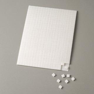 Klebekissen, weiß, doppelseitig, 5 x 5 x 1 mm / 10 x 14 cm, 560 Stk.