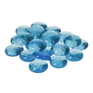 Glas-Nuggets, hellblau, , 18 - 20 mm, 100 g / ~ 20 Stk.