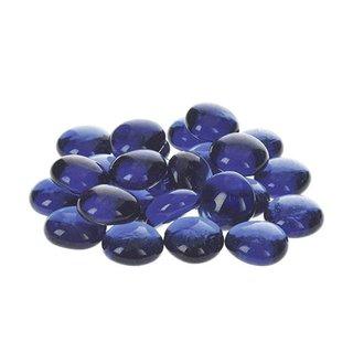 Glas-Nuggets, blau, , 18 - 20 mm, 100 g / ~ 20 Stk.