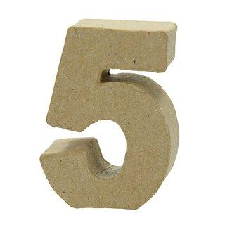 Zahl, , - 5 -, H 5 x B 3,8 x T 2 cm,
