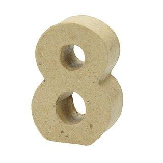 Zahl, , - 8 -, H 5 x B 3,5 x T 2 cm,