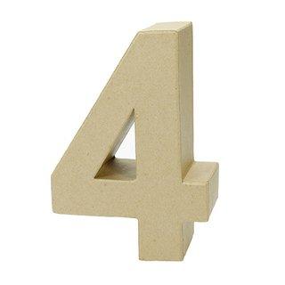 Zahl, , - 4 -, H 17,5 x B 12,3 x T 5,5 cm,