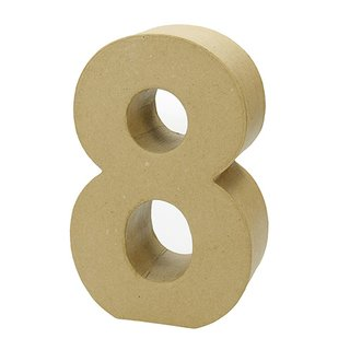 Zahl, , - 8 -, H 17,5 x B 11 x T 5,5 cm,