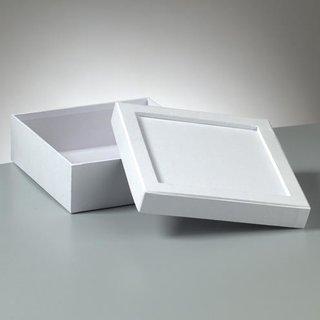 Box Mosaix, weiß, Quadrat, 17 x 17 x 6 cm,
