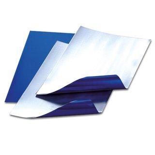 Alufolienzuschnitte, blau / silber, , 20 x 30 cm / 0,15 mm,