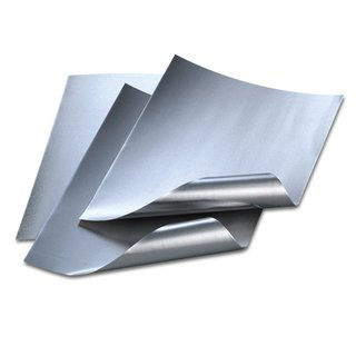 Alufolienzuschnitte, silber / silber, , 20 x 30 cm / 0,15 mm,