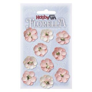 FLORELLA-Blüten aus Maulbeer-Papier 2,5 cm, zart-rosa, Btl. à 10 St.