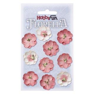 FLORELLA-Blüten aus Maulbeer-Papier 2,5 cm, hortensie, Btl. à 10 St.
