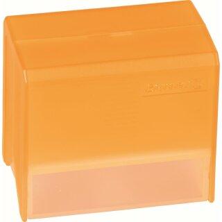 Karteibox A8 gefüllt orange transp