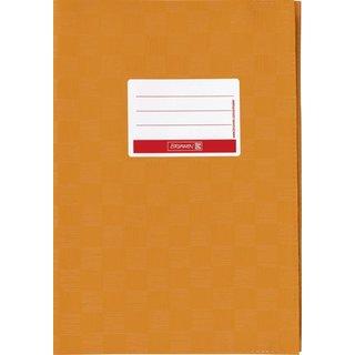 Hefthülle A4 orange Folie mitSchild