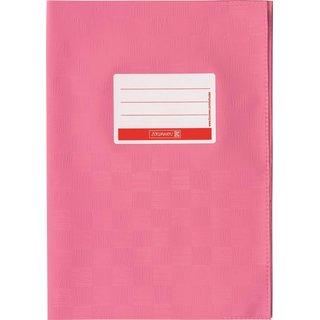 Hefthülle A5 rosa Folie mitSchild