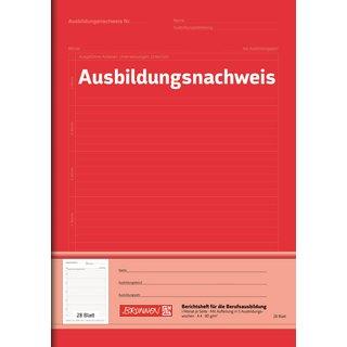 Brunnen 1042574 Berichtsheft Ausbildung / Ausbildungsnachweisheft (A4, 28 Blatt, 1 Monat je Seite) (ABVK)