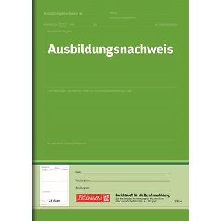 Brunnen 1042577 Berichtsheft Ausbildung / Ausbildungsnachweisheft (A4, 28 Blatt, für Wochen- und Monatsberichte verwendbar) (ABVK)