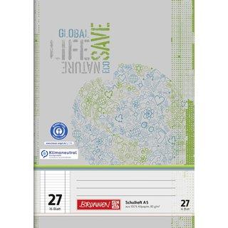 Schulheft A5 Lin 27 16Bl RCP