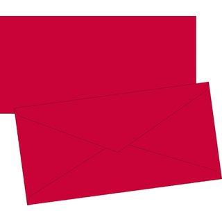 Briefumschlag DL  m.rot mFut 10St