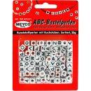 ABC-Kunststoffperlen m.Buchstaben,25g,Würfel,...