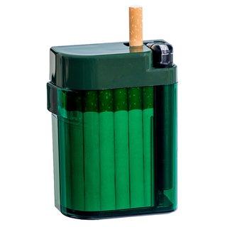 Magic Smoking Box grün, Zigarettenetui, Zigarettebox,Zigi Box,Kippenbox,inkl. Feuerzeug - Etui