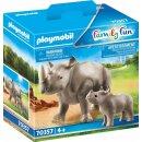 Nashorn mit Baby (43736566)