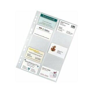 Visitenkartenhüllen A4 10 Hüllen für 105x55mm